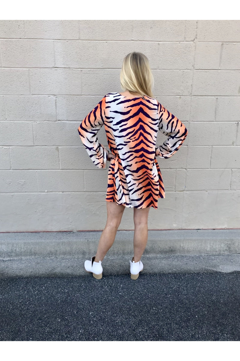 Long Sleeve Tiger Dress