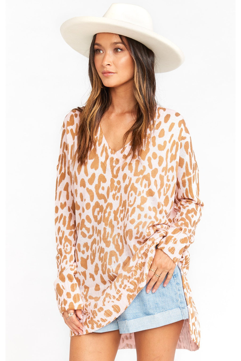 Pink Leopard Cliffside Sweater