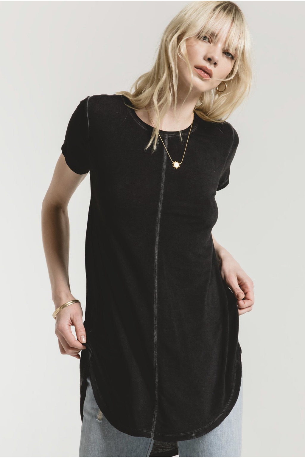 Black Seri Washed Tunic