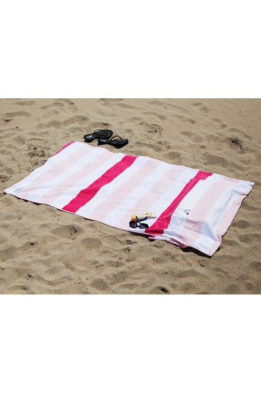 Pink Striped Tillow Beach Towel