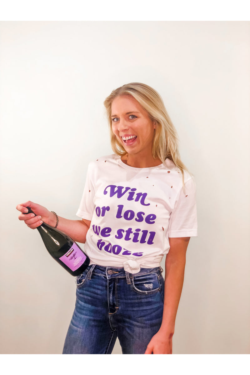 Win or Lose We Booze Graphic Tee