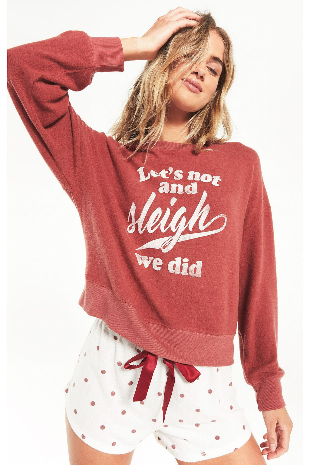 Elle Sleigh We Did Sweatshirt
