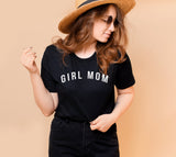 GIRL MOM- Black Tee