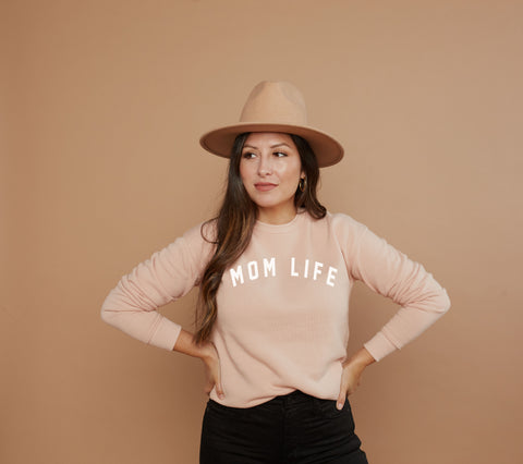 Mom Life - LIGHT BLUSH SWEATSHIRT