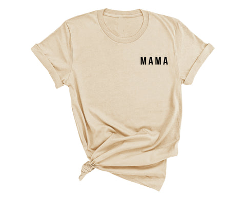 MAMA - TEE - TAN/ BLACK INK