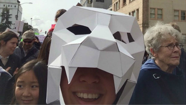 Wintercroft Mask at the Oakland Women's March