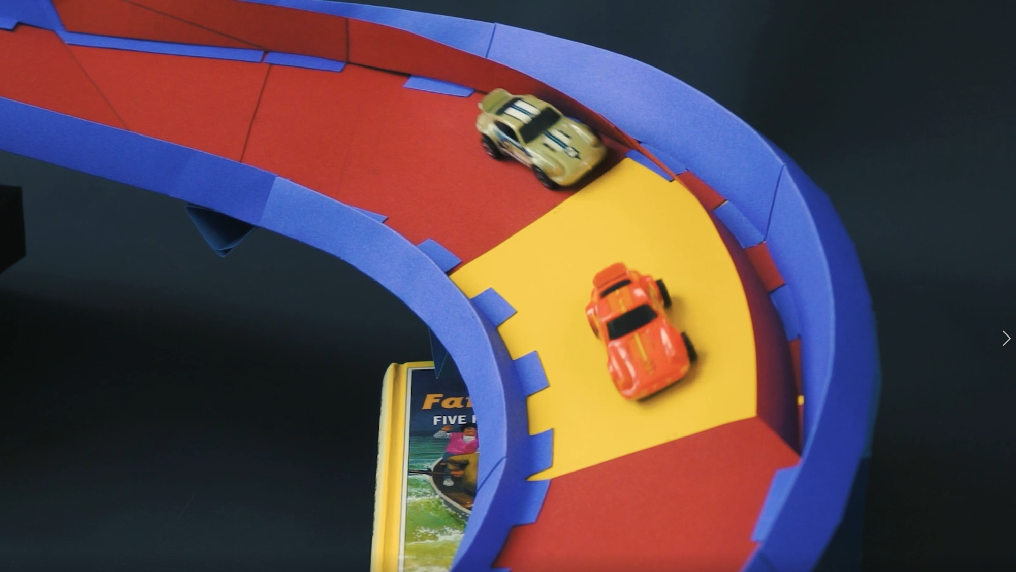 Diecast Car and Marble Racetrack