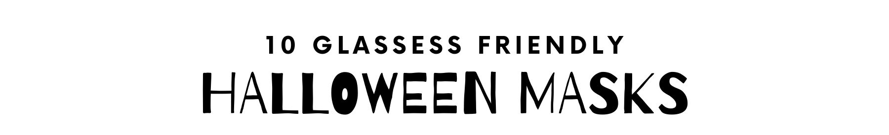 Glasses friendly halloween costumes