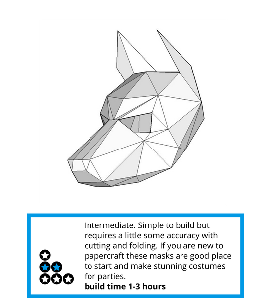 Build your own 3D polygon dog mask - Wintercroft