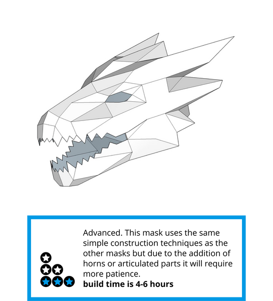 Dragon head v2 wintercroft for Cardboard dragon template