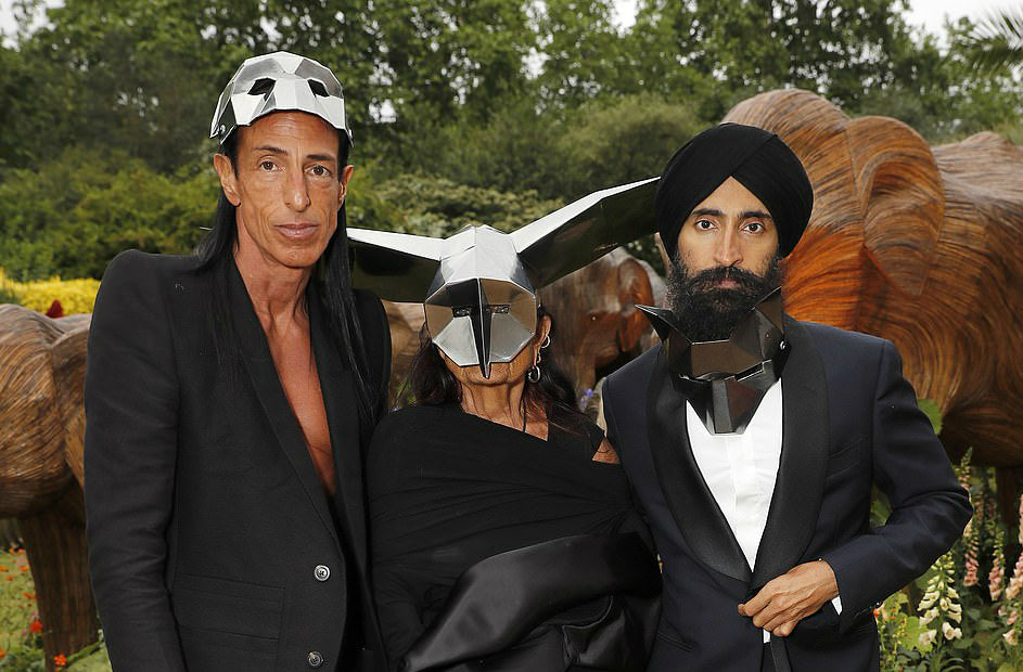 Rick Owens and Michelle Lamy at Prince Charles Masquerade