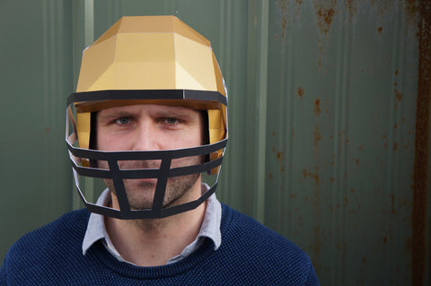 Wintercroft Low Poly Football Helmet front view