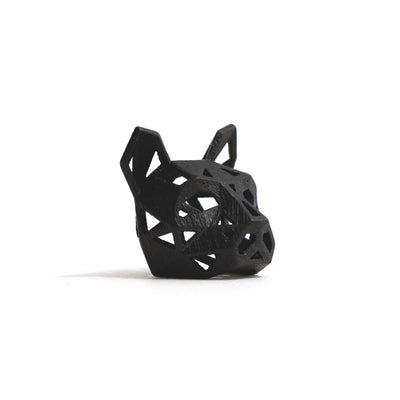 Cat Pendant - Black Stainless Steel - Wintercroft  - 1