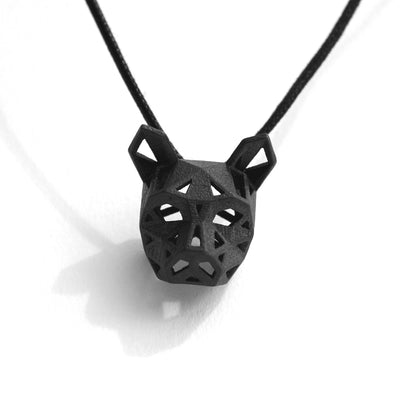 Cat Pendant - Black Stainless Steel - Wintercroft  - 7