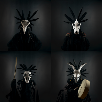 Bonefaced Mystics Headdress Set