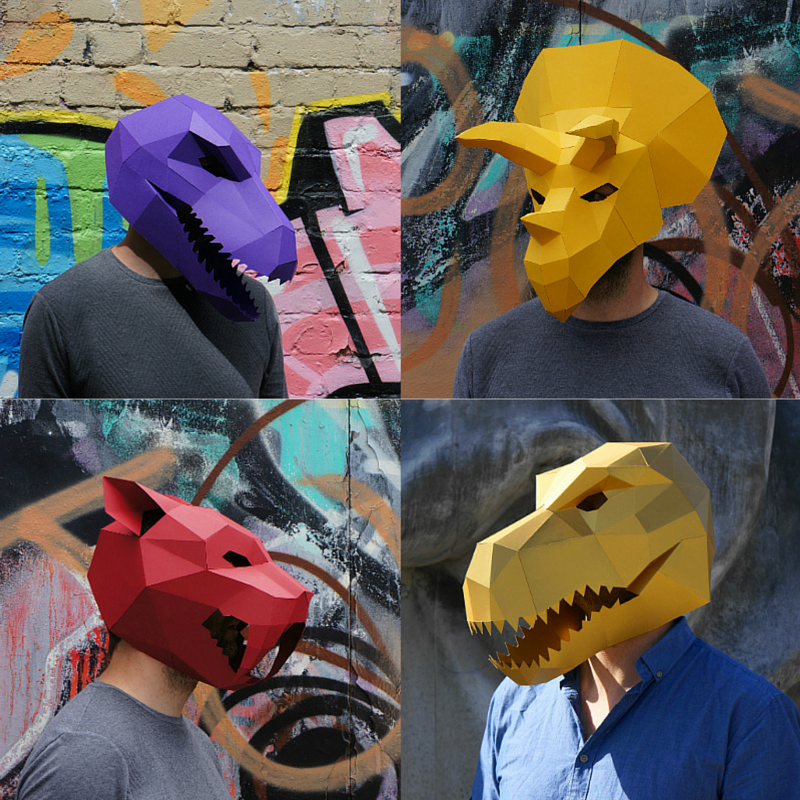 Prehistoric Monster Mask Set - Wintercroft  - 1