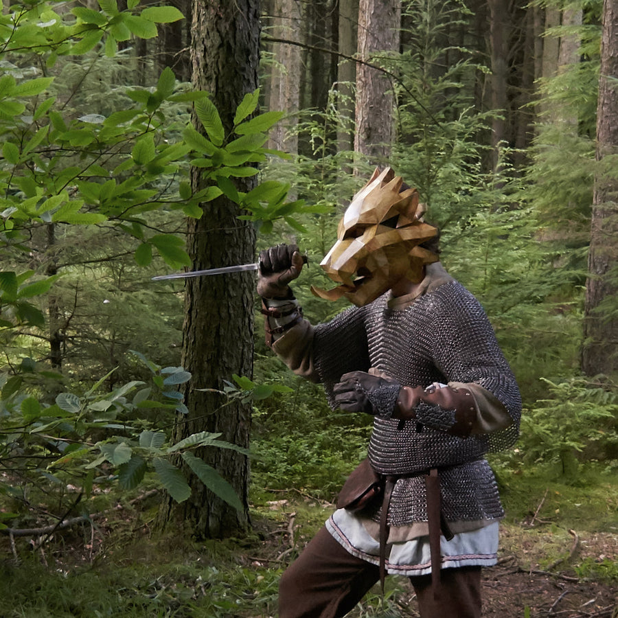 Masked bears raw masked in forest