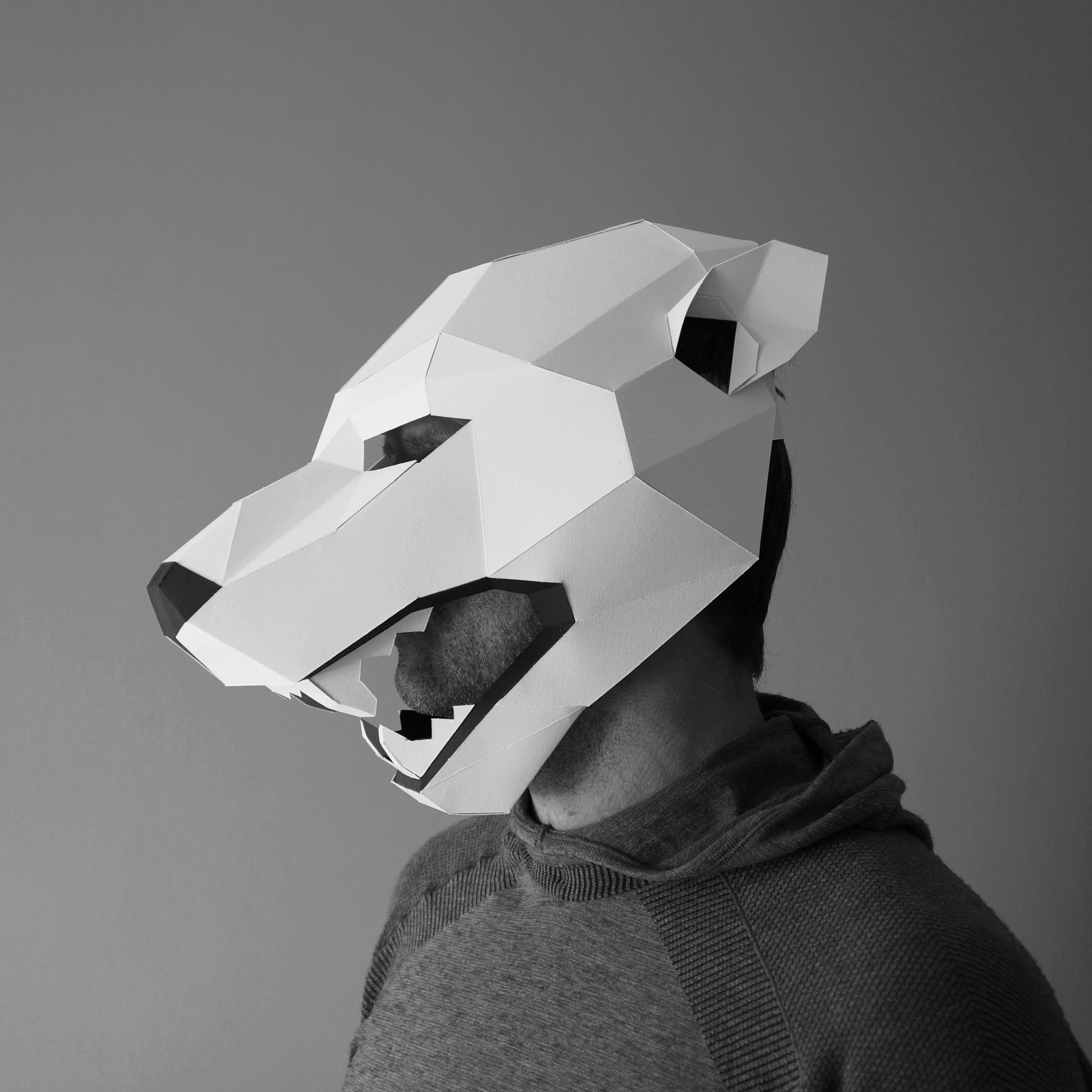 polar bear trophy mask wintercroft