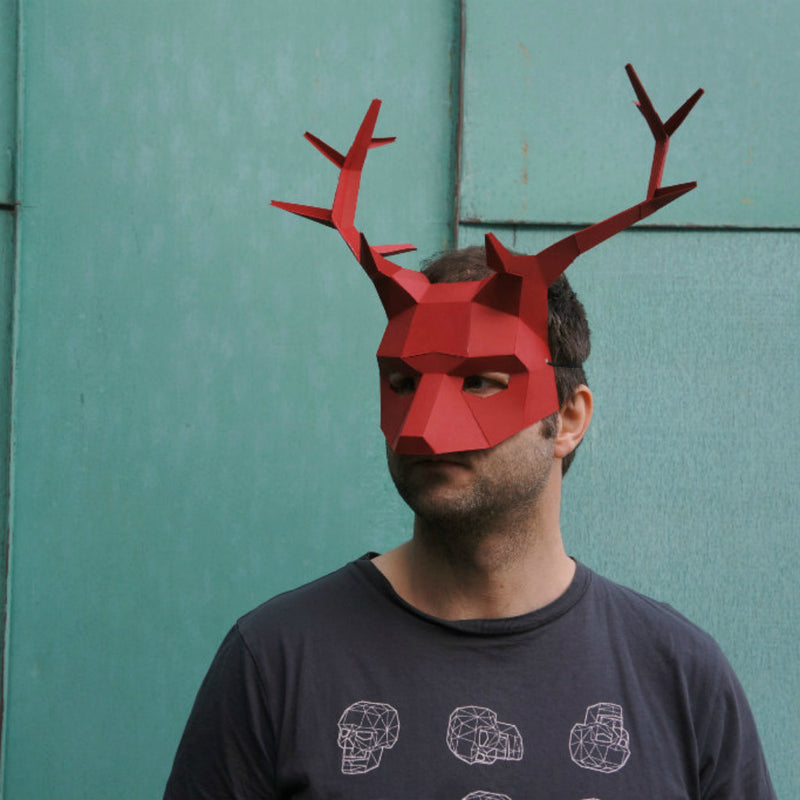 stag or reindeer half mask wintercroft