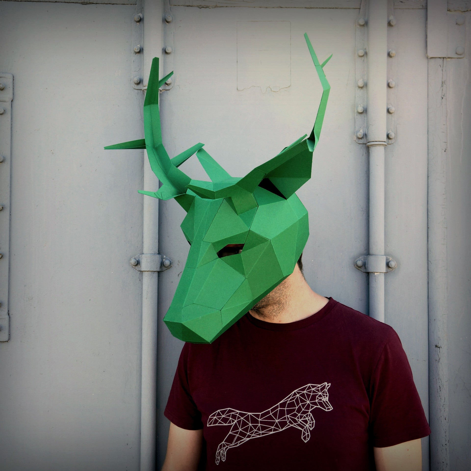 Stag or deer full mask - Wintercroft  - 1