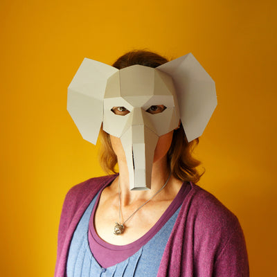 Elephant Half Mask - Wintercroft  - 2