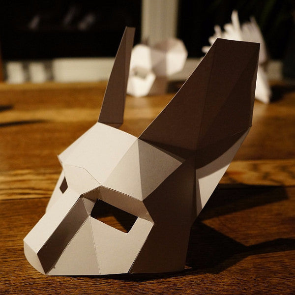 Rabbit Half Mask - Wintercroft  - 1