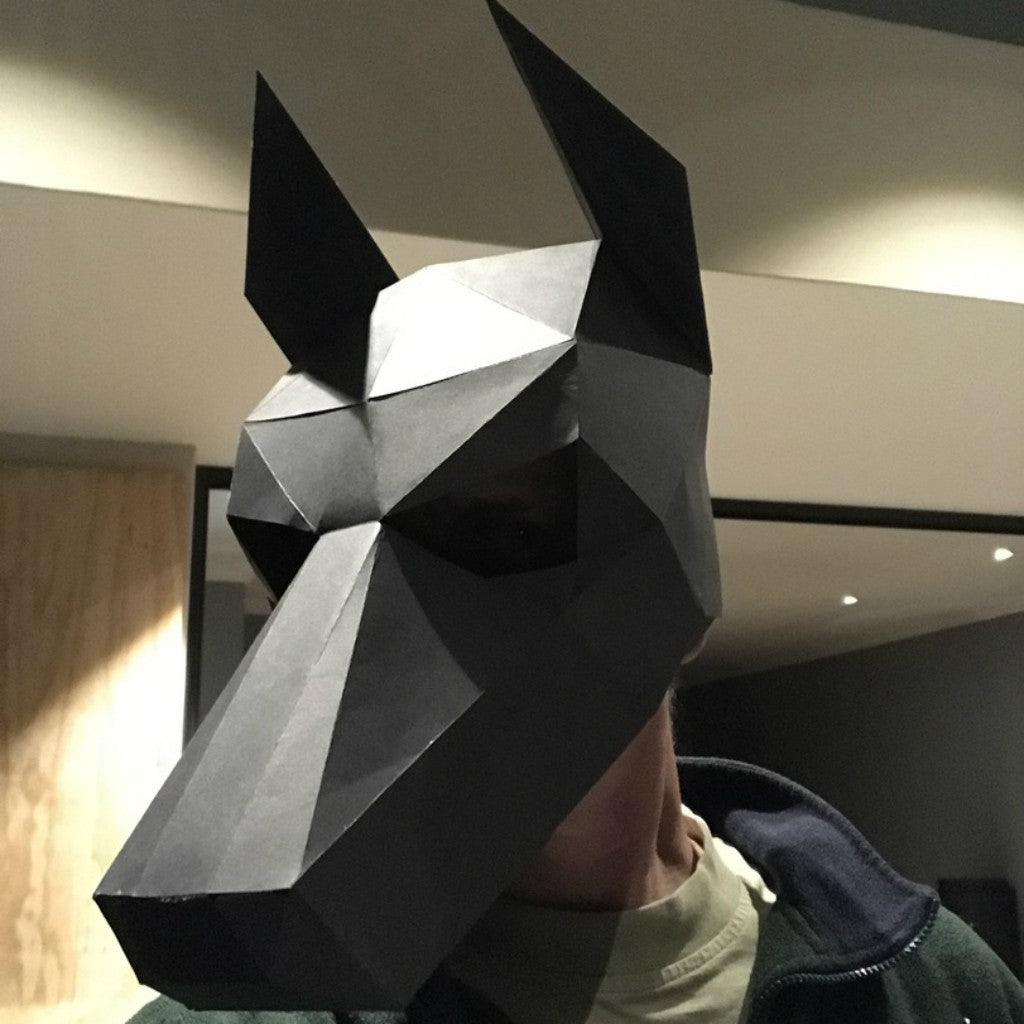 build your own 3d polygon dog mask wintercroft