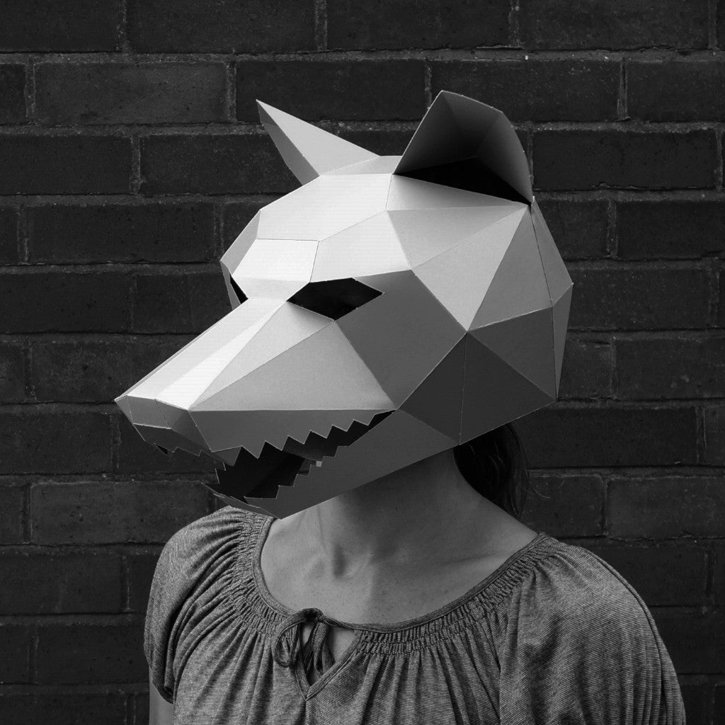 3d Wolf Mask Template