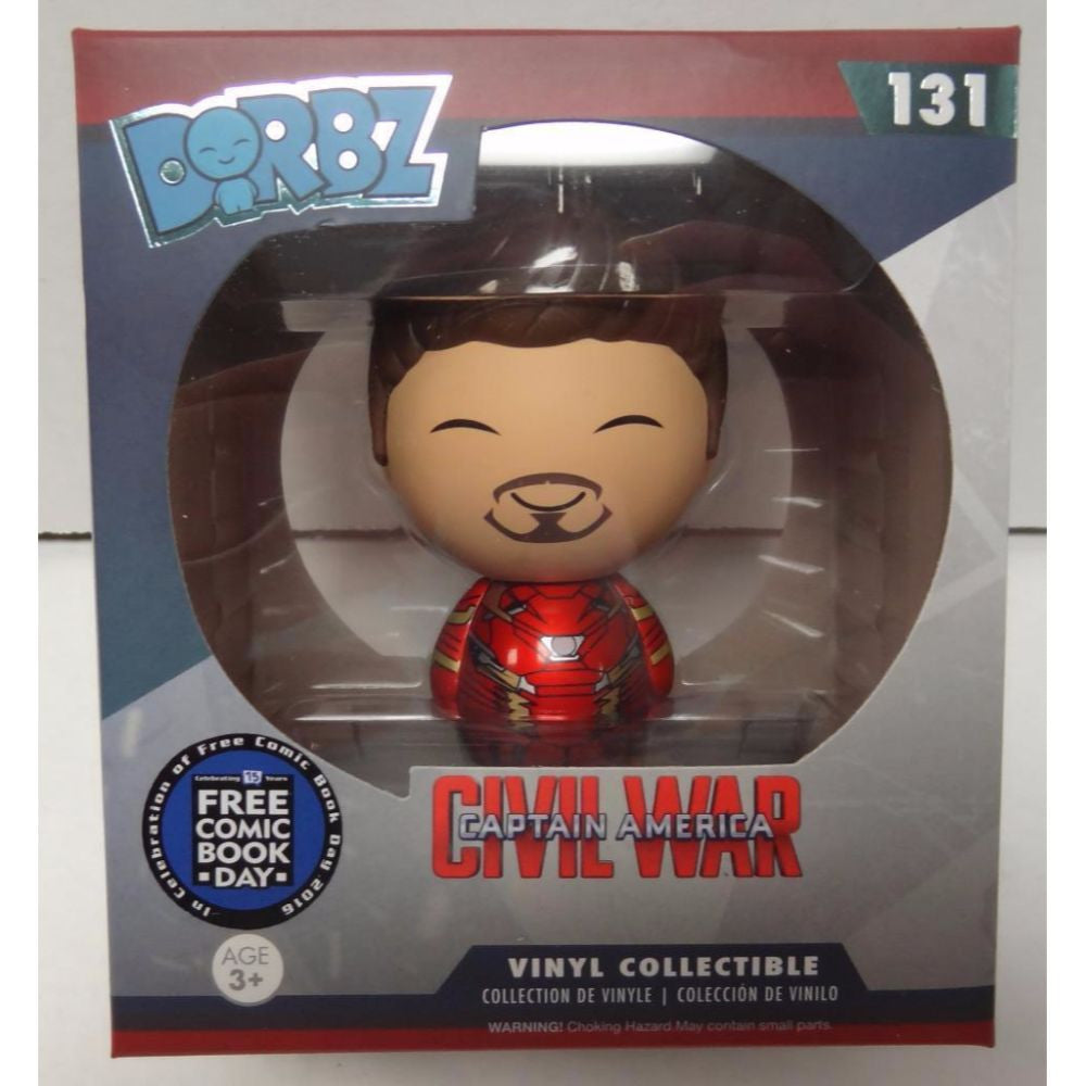 Dorbz - Civil War - Tony Stark Iron Man (Unmasked) (Comic Book Day)