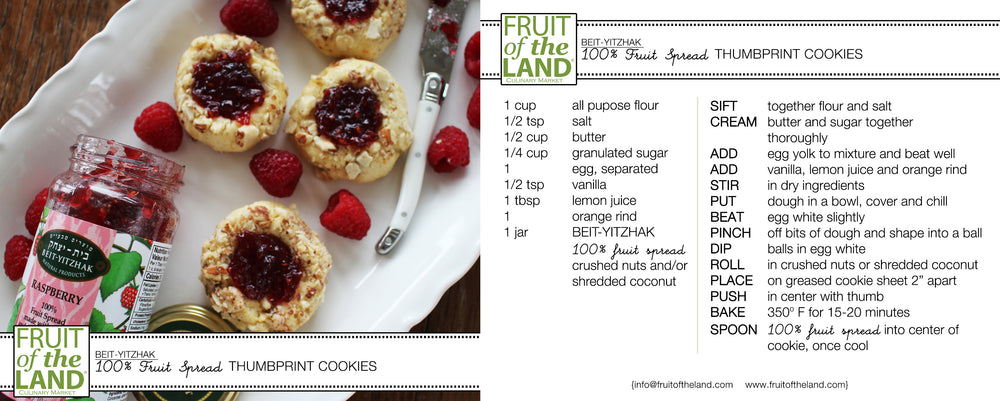 Fruit Spread Thumbprint Cookies