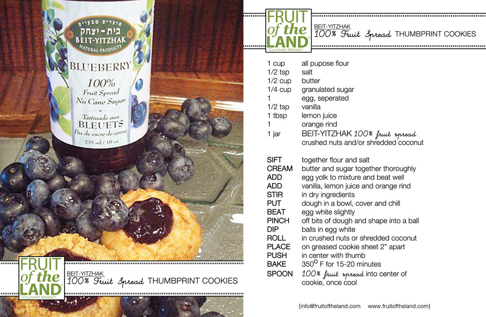 Beit Yitzhak 100% Fruit Spreads - Blueberry