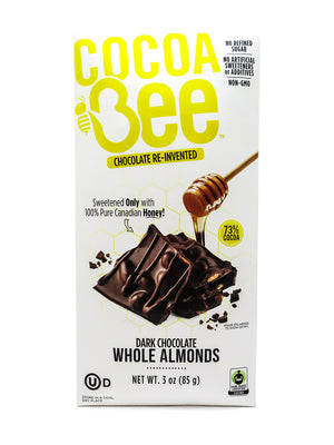 Cocoa Bee Dark Chocolate with Almond Bar