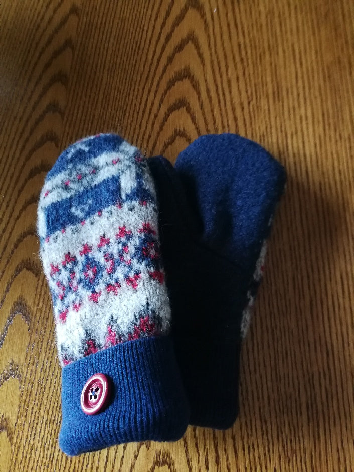 """Warm Fuzzies"" Upcycled Mittens"