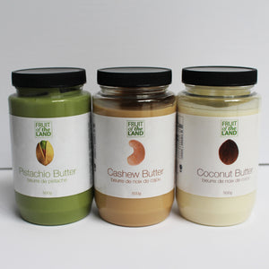 Fruit of the Land Unique Nut Butter Trio