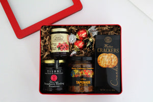 Holiday Cheer Gourmand Red Gift Tin