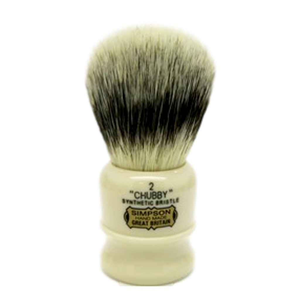 Simpsons 'Chubby 2' Synthetic Shaving Brush - Cyril R. Salter | Trade Suppliers of Luxury Grooming Products