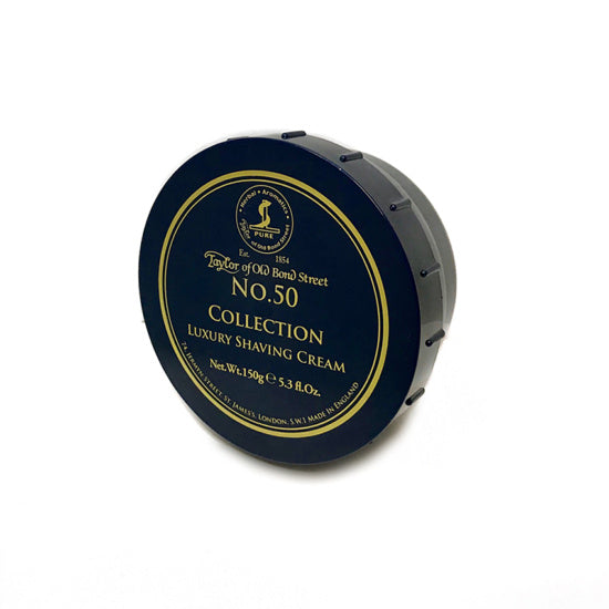 Taylor of Old Bond Street No.50 Collection Shaving Cream 150g - Cyril R. Salter
