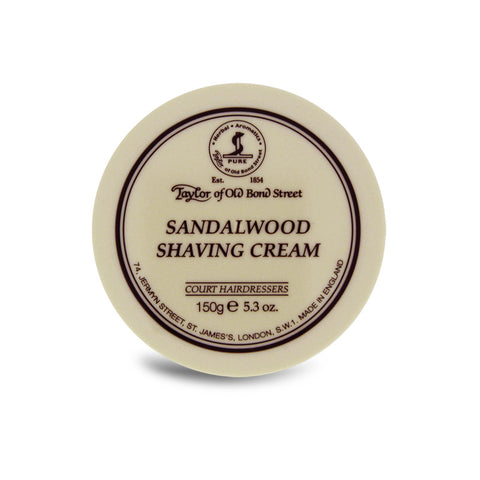 Taylor of Old Bond Street Sandalwood Shaving Cream 150g - Cyril R. Salter