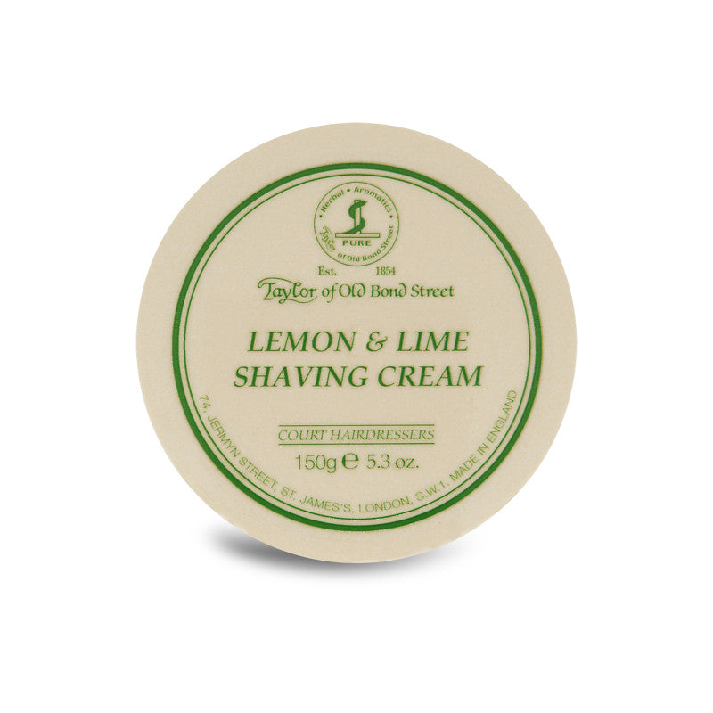 Taylor of Old Bond Street Lemon & Lime Shaving Cream 150g - Cyril R. Salter