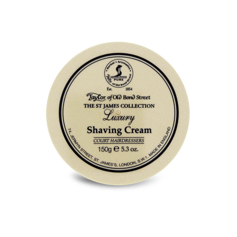 Taylor of Old Bond Street St James Collection Shaving Cream 150g - Cyril R. Salter
