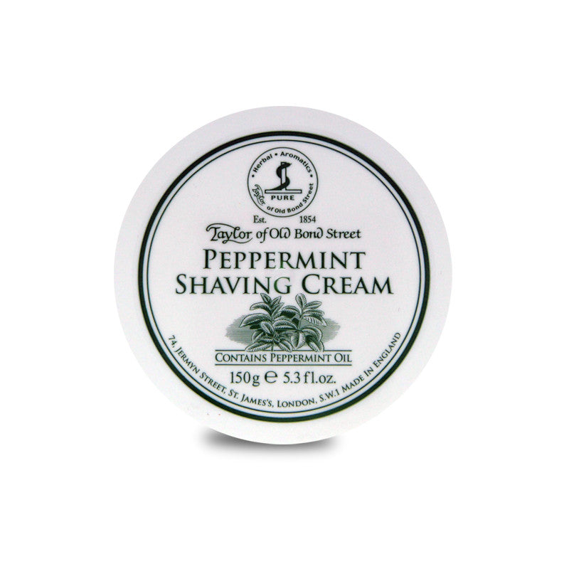 Taylor of Old Bond Street Peppermint Shaving Cream 150g - Cyril R. Salter