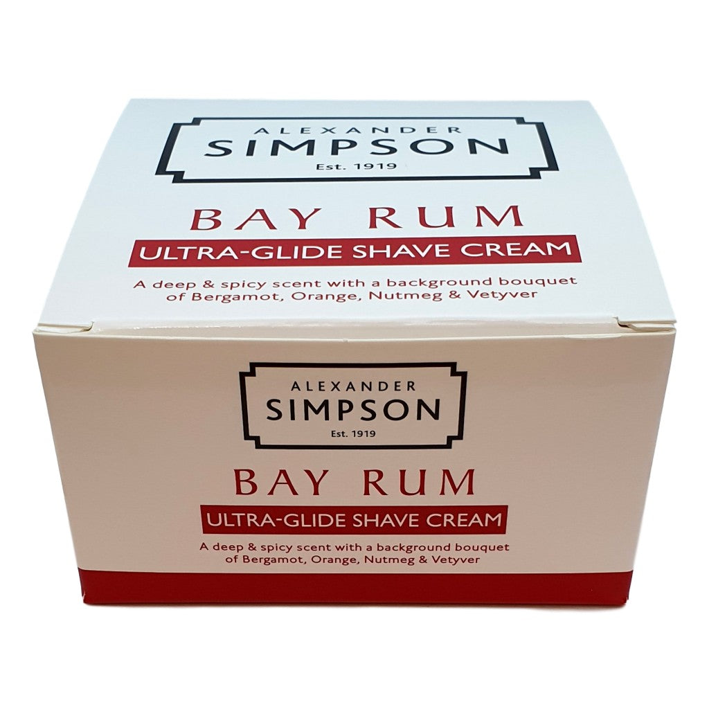 Alexander Simpson Est. 1919 Bay Rum Ultra-Glide Shave Cream Cyril R. Salter | Trade Suppliers of Gentlemen's Grooming Products