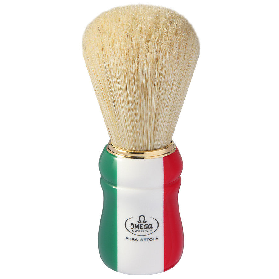 "Omega ""ITALIAN FLAG"" Pure bristle Shaving Brush 21762 - Cyril R. Salter"