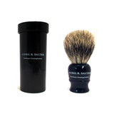 Cyril R. Salter Pure Badger Ebony Travel Shaving Brush