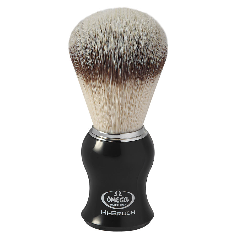 Omega HI-BRUSH Synthetic Fibre Shaving Brush 46206 (Gift Box)