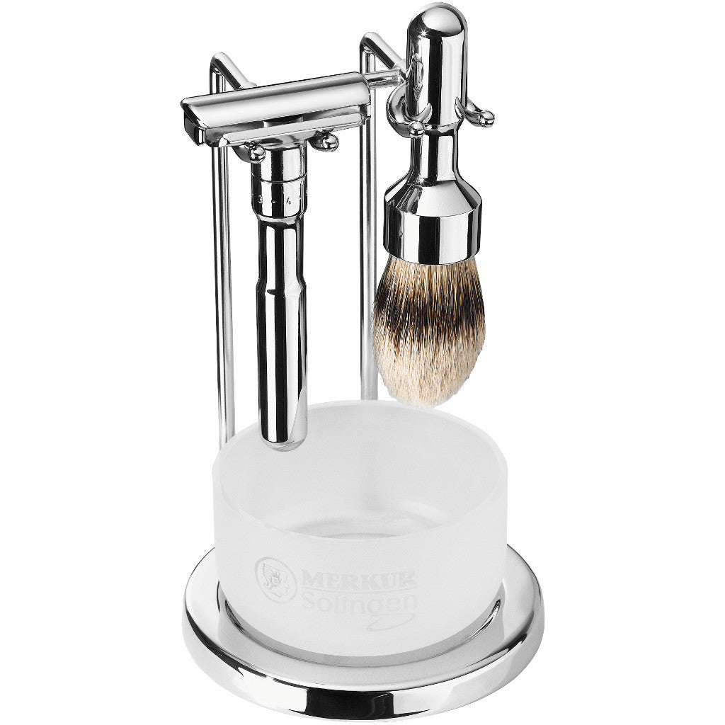 Merkur FUTUR 4-Piece Polished Chrome Shaving Set 751 001 - Cyril R. Salter