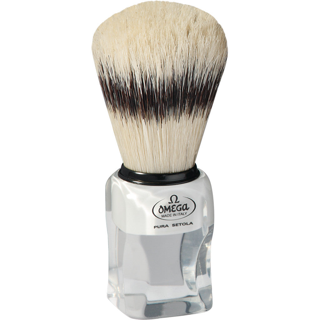 Omega Badger Imitation Hog Bristle Shaving Brush 81020 - Cyril R. Salter