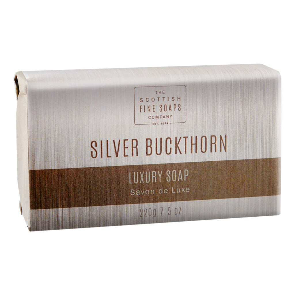 The Scottish Fine Soaps Company Silver Buckthorn Luxury Soap Bar - Cyril R. Salter | Trade Suppliers of Gentlemen's Grooming Products