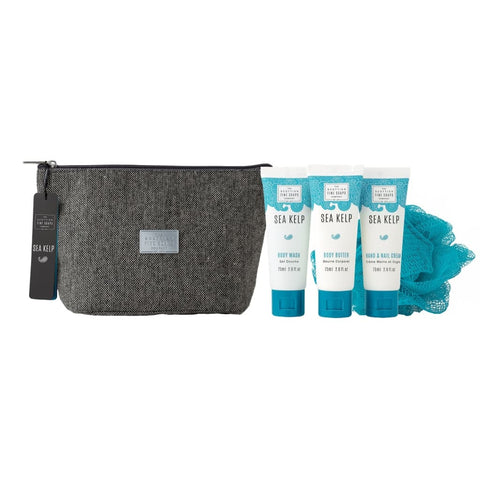 The Scottish Fine Soaps Company Sea Kelp Toiletry Bag 3 x 75ml & Sponge - Cyril R. Salter