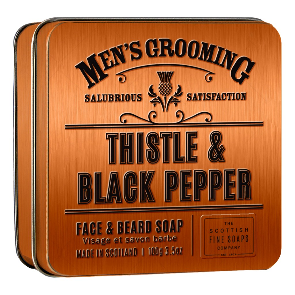 The Scottish Fine Soaps Company Men's Grooming Face & Beard Soap 100g - Cyril R. Salter